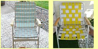 Vintage Lawn Chair Makeovers - Weekend Yard Work Series - Little ... Lawn Chairs Folding Double Outdoor Decoration Alinum Chair Frames Lweight Canada I See Your Webbed Lawn Chair And Raise You A Vinyl Tube Strap Fniture Enjoy Your Relaxing Day With Beach Lounge Mesmerizing Recling Custom Zero Gravity Retro Arnhistoriacom Walmart Best Ideas Newg How To Macrame Vintage Howtos Diy Cool Patio Webbing Replacement For Makeover A Beautiful Mess Repair To Mesh Of Fabric