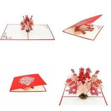 Image Is Loading 3D Pop Up Greeting Cards Valentines Day Gifts