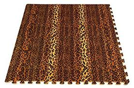 incstores designer animal print foam tiles 3 x 3 6