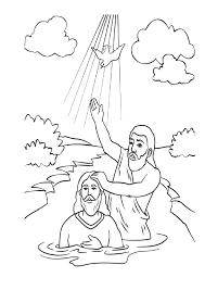 Holiday Coloring Pages Jesus Baptism SAN JUAN BAUTISTA PARA COLOREAR JOAN