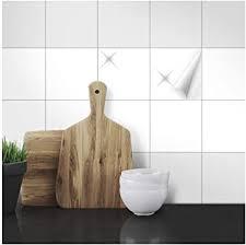 fliesenaufkleber 15 x 15 cm 25 stück weiß seidenmatt und glänzend für alle fliesen in küche bad innenbereich