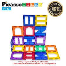 amazon com picassotiles 100 piece set 100pcs magnet building