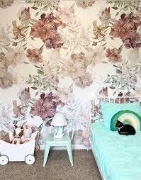 romantische komposition abnehmbar tapete zarte blumen dekoration schälen und kleben tapete temporäre tapeten 164