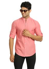 buy nick u0026jess mens coral mandarin collared shirt msfs078ca online