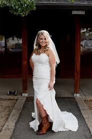 High Low Country Wedding Dresses With Cowboy Boots Naf