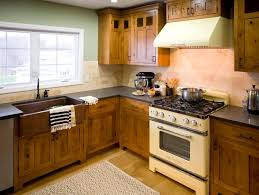 Mint Green Kitchen With Vintage Stove And Shaker Cabinets