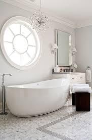 chandelier over tub contemporary bathroom lucid interior design