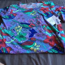 LuLaRoe Julia Dress Multi Color Bird Print