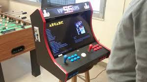 bartop arcade with coin acceptor and trackball on a raspberry pi 3