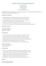 Ultrasound Resume Exles by Gallery Of Jeff Ultrasound Resume Pdf Cardiac Sonographer Resume