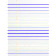 Paper clipart lined paper Pencil and in color paper clipart