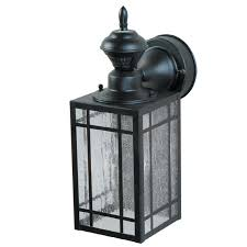shop secure home mission 14 25 in h black motion activated outdoor