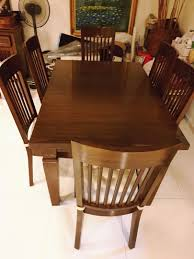 Solid Teakwood Dining Table N Chairs, Furniture, Tables ...