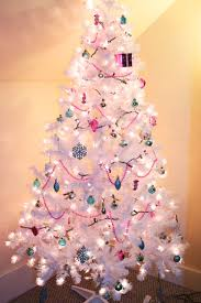 White Christmas Trees Walmart by Christmas White Christmas Tree With Blue Decorations Xmas Image