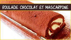 mascarpone recette dessert rapide recette de la roulade au chocolat et mascarpone