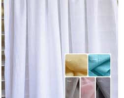 Sheer Cotton Voile Curtains by Voile Curtain Etsy