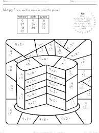 Math Coloring Worksheets Multiplication Pages Winter Color By Number Printable Free Division P