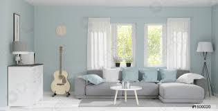 foto auf lager 3d rendering modernes großes wohnzimmer mit holzboden pastellgrüne wand