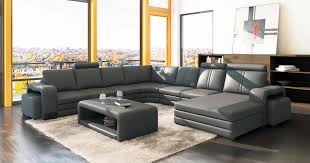 canape cuir gris deco in canape d angle panoramique cuir gris 10 places