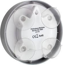tfa 60 3502 funk badezimmeruhr funkuhr mit höchster genauigkeit 4 große saugnäpfe befestigung