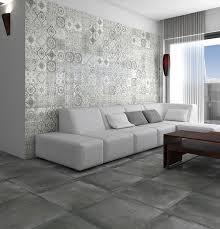 concrete effect form grey porcelain floor tile