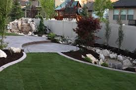 Landscape Ideas: Landscape Drainage Design With White Wooden Fence ... Garden Creative Pond With Natural Stone Waterfall Design Beautiful Small Complete Home Idea Lawn Beauty Landscaping Backyard Ponds And Rock In Door Water Falls Graded Waterfalls New For 97 On Fniture With Indoor Stunning Decoration Pictures 2017 Lets Make The House Home Ideas Swimming Pool Bergen County Nj Backyard Waterfall Exterior Design Interior Modern Flat Parks Inspiration Latest Designs Ponds Simple Solid House Design And Office Best