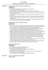 Download Relocation Specialist Resume Sample As Image File