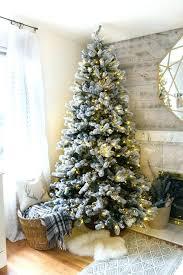 Flocked Tree Dreamy Decoration Ideas Unlit Vickerman Alaskan Clear Pre Lit Christmas Amazing Sierra Fir White Foot