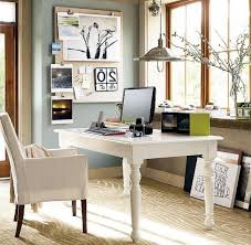 Rustic White Desk With Eurway And Mid Century Office Chair Plus Cozy Stark Carpet For Traditional