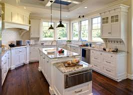 Awesome White Cabinets Granite Countertops Kitchen Simple Remodel Concept With Dark