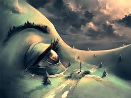 Between Surreal And Fantasy By Cyril Rolando Digital Painting This Was Selected For The Blend Of Landscape Figure I Wish That Eye Had Been Mixed