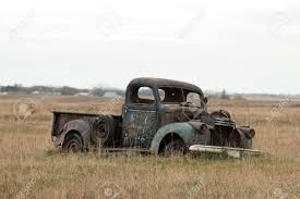 100 Dakota Truck Old Classic In A North Pasture Stock Photo Picture And