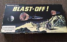 BLAST OFF VINTAGE 1960s BOARD GAME