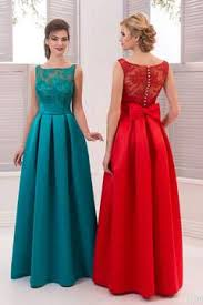 2018 Satin A Line Scoop Prom Dresses With Applique And Ruffles Floor Length