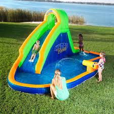 8 Kids' Waters Slides For Summer   EBay Water Park Inflatable Games Backyard Slides Toys Outdoor Play Yard Backyard Shark Inflatable Water Slide Swimming Pool Backyards Trendy Slide Pool Kids Fun Splash Bounce Banzai Lazy River Adventure Waterslide Giant Slip N Party Speed Blast Picture On Marvellous Rainforest Rapids House With By Zone Adult Suppliers