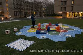 On The Morning Of December 10th Hackers Put Up References To Various Board Games Around MIT Stata Centers Student Street Got Cheese Mousetrap
