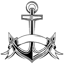Navy Anchor Colouring Page Happy