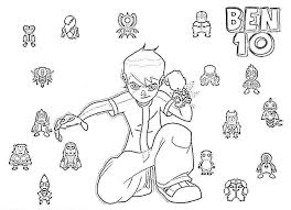 Ben 10 Colouring Pages 8