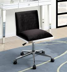 Armless Adjustable Office Chair In Black Padded Fabric Chrome Leg W ... Amazoncom Topeakmart Pu Leather Low Back Armless Desk Chair Ribbed Modway Ripple Mid Office In Black Trendy Tufted For Modern Home Fniture Ideas Computer Without Wheels Chairs Simple Mesh No White Desk Chair Uk With Lumbar Support 3988 Swivel Classic Adjustable Task Dirk Low Back Armless Office Chair Having Good Bbybark Decor Wheel