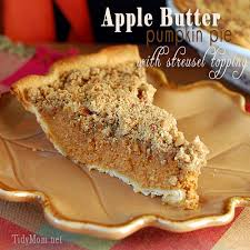 Solid Pack Pumpkin Pie Recipe by Apple Butter Pumpkin Pie With Streusel Topping