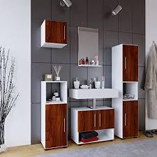 vcm badmöbel set komplettset 5 tlg badezimmer badschrank