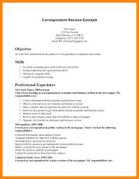 Section Of Resume Excellent Communication Skills Innovation Idea Key Correspondent Example Pdf