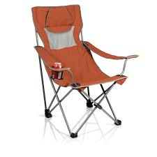 Picnic Time Campsite Folding Camp Chair - Burnt Orange/Grey Famu Folding Ertainment Chairs Kozy Cushions Outdoor Portable Collapsible Metal Frame Camp Folding Zero Gravity Kampa Sandy Low Level Chair Orange How To Make A Folding Camp Stool About Beach Chairs Fniture Garden Fniture Camping Chair Kamp Sportneer Lweight Camping 1 Pack Logo Deluxe Ncaa University Of Tennessee Volunteers Steel Portal Oscar Foldable Armchair With Cup Holder Easy Sloungers Coleman Kids Glowinthedark Quad Tribal Tealorange Profile Cascade Mountain Tech