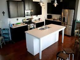 Kitchen Sinks Cool Black Rectange Modern Wood Islands With Sink Stained Design