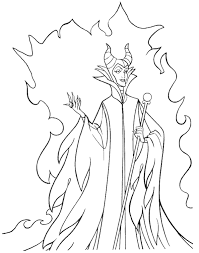 Disney Maleficent Coloring Pages Villains