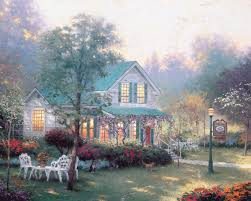 Thomas Kinkade Christmas Tree Village by Village Inn The Thomas Kinkade Company