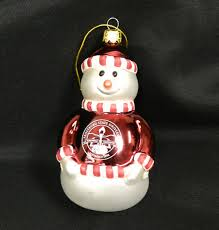 Snowman Christmas Tree Ornament With Frostburg State University Seal