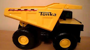 LARGE YELLOW METAL TONKA TOYS TIPPER TRUCK - YouTube