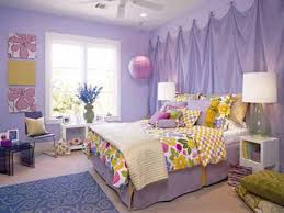 Sweet Purple Themes Teenage Girl Room Ideas With Comfortable Bed Furniture That Have Beautiful Colorful Rounded