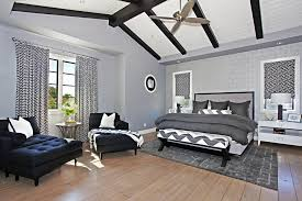 navy and white curtains living room contemporary with balcony